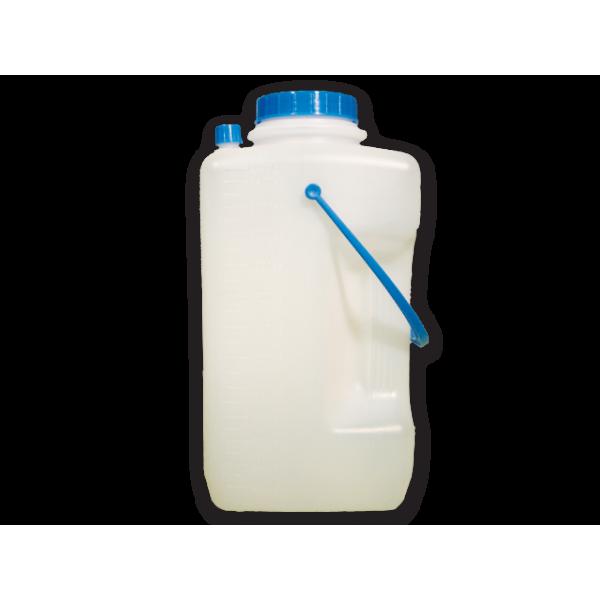 Δοχεία 24ώρου συλλογής ούρων πολλαπλών χρήσεων, κατασκευασμένα από 100% Πολυπροπυλένιο (πλαστικό) μη τοξικό, υψηλής ανθεκτικότητας και αντοχής, λευκού χρώματος.