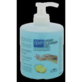 Ήπιο αντισηπτικό χεριών με αντλία σε μορφή gel.  Περιέχει βιολογική αλόη, εκχύλισμα λεμονιού και γλυκερίνη για επιπλέον περιποίηση των χεριών.