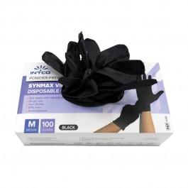 Εξεταστικά συνθετικά γάντια, σε μαύρο χρώμα.