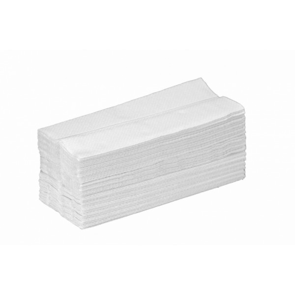 Χειροπετσέτες ζίκ-ζάκ διπλωμένες σε διάσταση 10,5x25cm για επαγγελματική χρήση. Είναι απαλές και απορροφητικές. Ταιριάζουν σε όλες τις χαρτοθήκες.