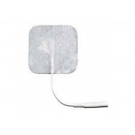 Αυτοκόλλητα ηλεκτρόδια ηλεκτροθεραπείας πολλαπλών χρήσεων, με υποδοχή 2mm. Είναι κατάλληλα για όλες τις συσκευές ηλεκτροθεραπείας που διαθέτουν καλώδιο με λεπτό βύσμα 2mm.