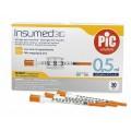 Η σύριγγα ινσουλίνης Insumed είναι ιδανική για τη θεραπεία με παραδοσιακές ενέσεις ινσουλίνης. Η λεπτότερη βελόνα για σύριγγες ινσουλίνης!