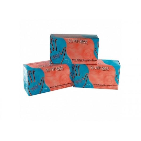 Εξεταστικά μπλε γάντια νιτριλίου, μιας χρήσης, μη αποστειρωμένα, κατασκευασμένα από 100% συνθετικό καουτσούκ (νιτρίλιο).