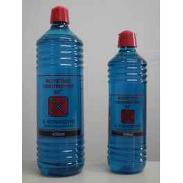 93 βαθμούς, μετουσιωμένη αιθυλική αλκοόλη, μη πόσιμο, κατάλληλο για καθαρισμό επιφανειών, απολύμανσεις και λοιπές χρήσεις.