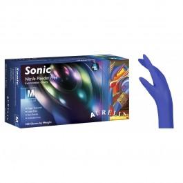 Tα εξαιρετικά λεπτά εξεταστικά γάντια νιτριλίου Aurelia® Sonic, σε χρώμα cobalt blue, προσφέρουν μέγιστη αντοχή και προστασία και διακρίνονται για τη μέγιστη άνεση, ελαστικότητα και ευαισθησία στην αφή.      CE πιστοποίηση     2.2 mil νιτρίλιο     Xωρίς π