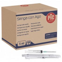 Σύριγγες τριών μερών με αποσπώμενη βελόνα, μιας χρήσης, αποστειρωμένες με αιθυλενοξείδιο, συσκευασμένες σε ατομική συσκευασία blister.