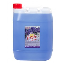 Υγρό Γενικού Καθαρισμού Fresh Line. Kατάλληλo για πατώματα και για όλες τις επιφάνειες, με έντονο άρωμα. Δεν χρειάζεται ξέβγαλμα.